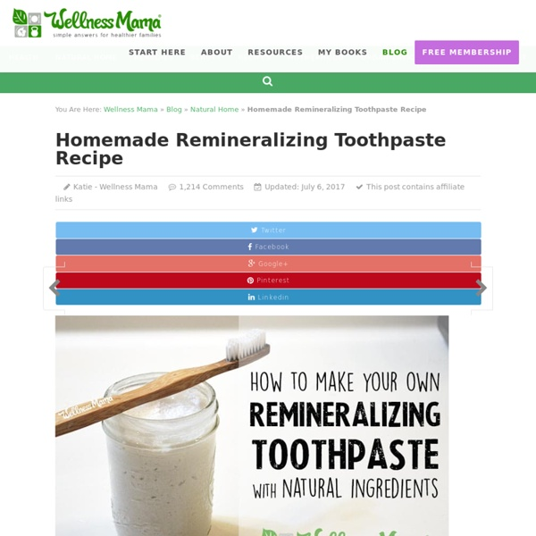 Homemade Remineralizing Toothpaste Recipe for Oral Health