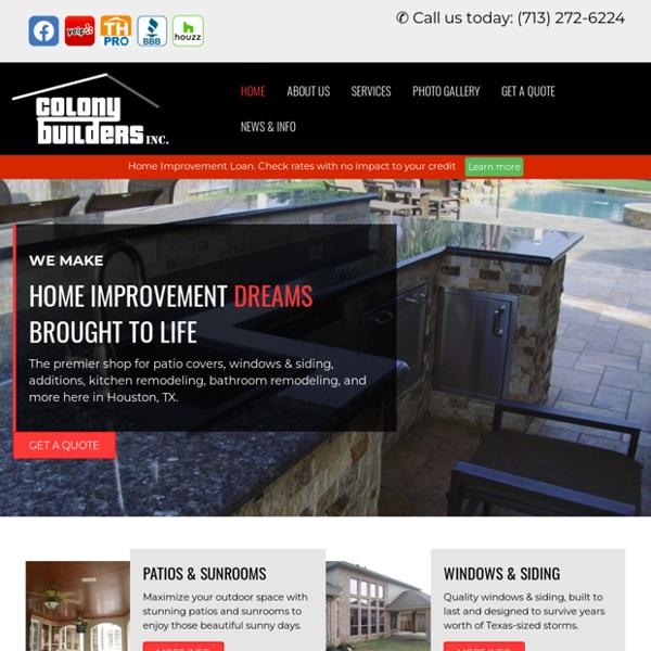 Kitchen Remodeling, Bathroom Remodeling, Windows & Siding in Houston, Galleston, TX