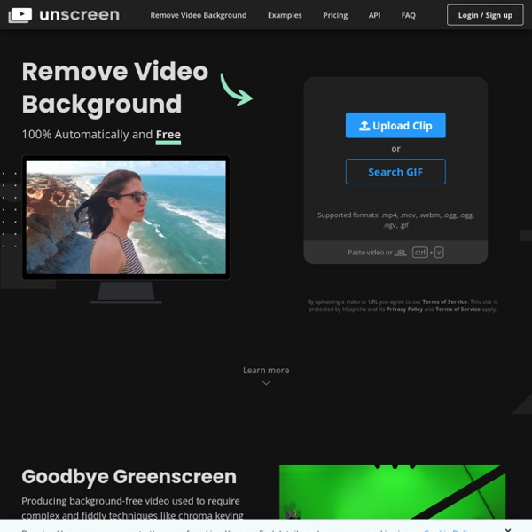 Remove Video Background – Unscreen