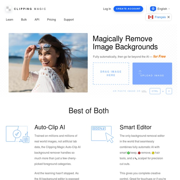 Instantly Remove Image Backgrounds Online - Clipping Magic