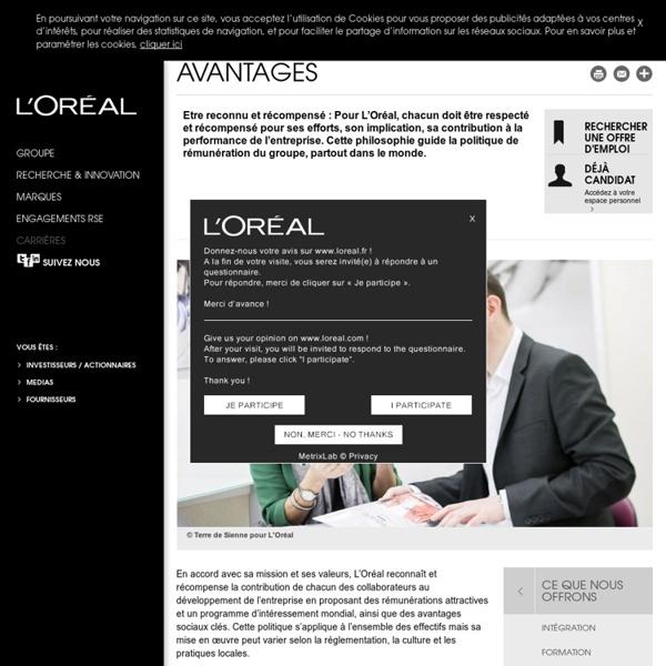 Rémunérations et avantages de L'Oréal