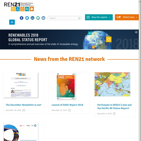 REN21 - Renewable Energy Policy Network for the 21st Century