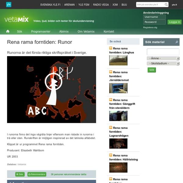 Rena rama forntiden: Runor