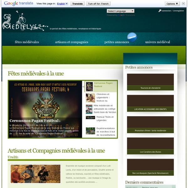 Medielys.com : le portail des fêtes médiévales, renaissance et historiques