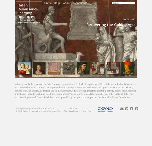 Italian Renaissance Learning Resources - The National Gallery of Art