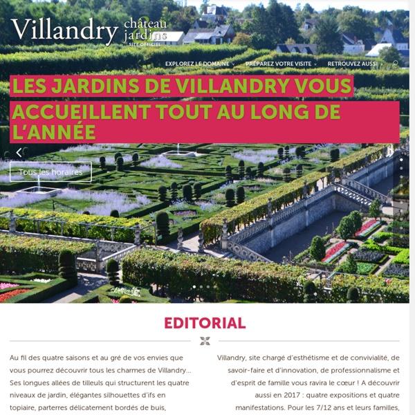 Le château de Villandry est l'un des derniers grands châteaux bâtis en bord de Loire à la Renaissance. Les jardins remarquables de Villandry sont ouverts vous accueillent tout au long de l'année.