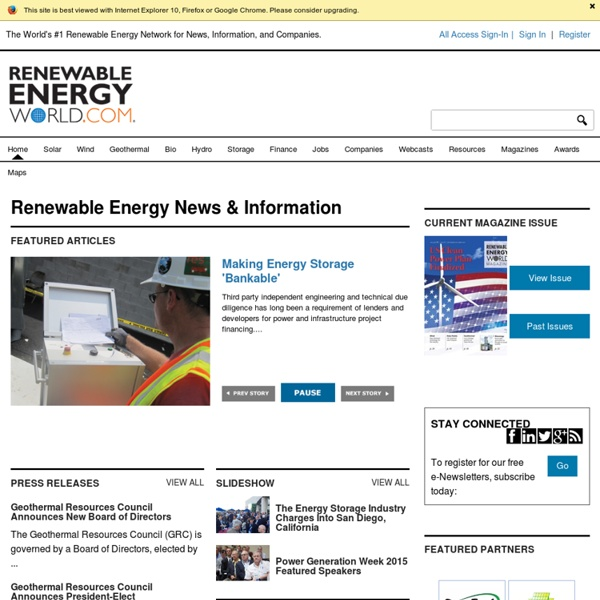 Renewable Energy World - Renewable Energy News, Jobs, Events, Companies, and more