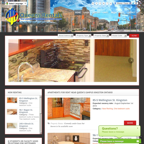 Queens Rentals - Apartments and Houses for Rent in Kingston Ontario