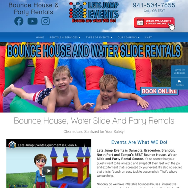 THE BEST Bounce House and Water Slide Rentals in Sarasota and Bradenton