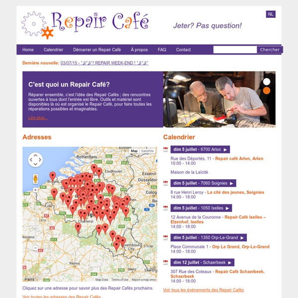 Repair Café Belgique