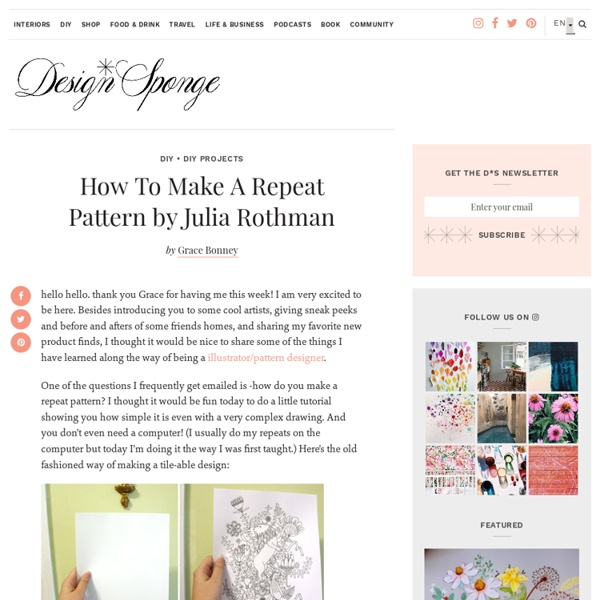 How To Make A Repeat Pattern by Julia Rothman