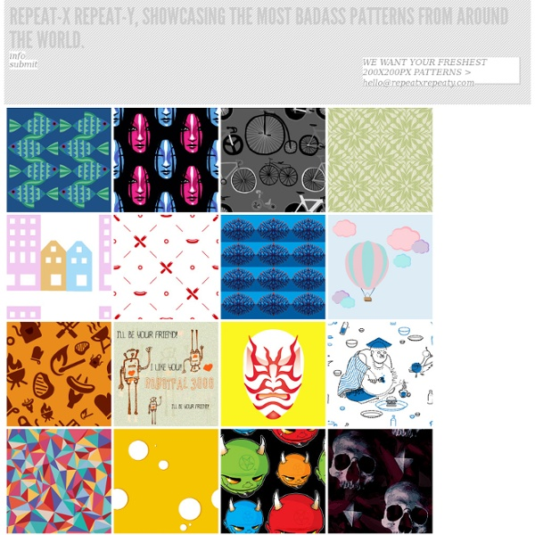 Free & ace repeating patterns from awesome people