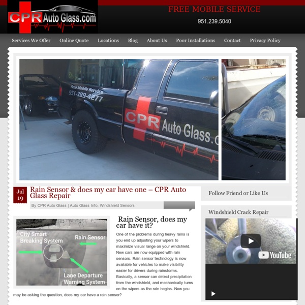 Auto glass repair and replacement in Murrieta and Temecula
