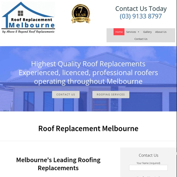 Roof Replacement Melbourne - Metal & Tile Roof Replacement Specialists