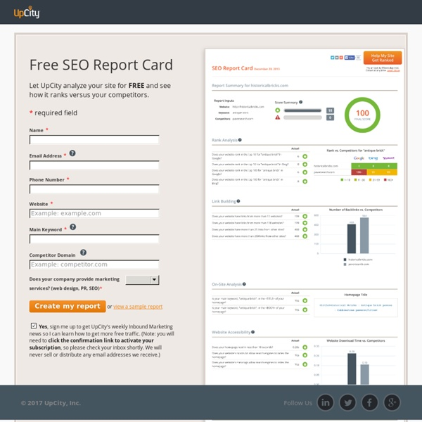 Free SEO Report Card: Website Grader | Pearltrees