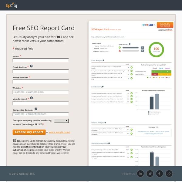 Free SEO Report Card: Website Grader