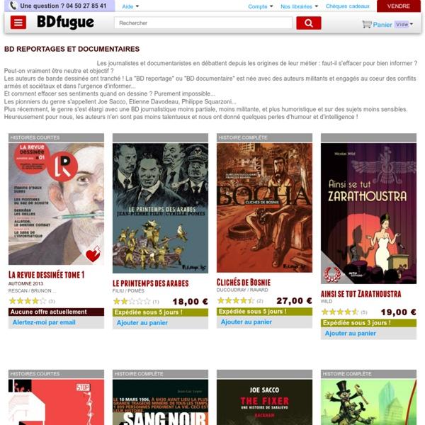 BD reportages et documentaires - Sélections BD - Bandes dessinées