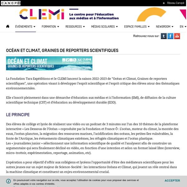 Océan et Climat, Graines de reporters scientifiques- CLEMI