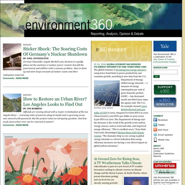 Yale Environment 360: Opinion, Analysis, Reporting & Debate