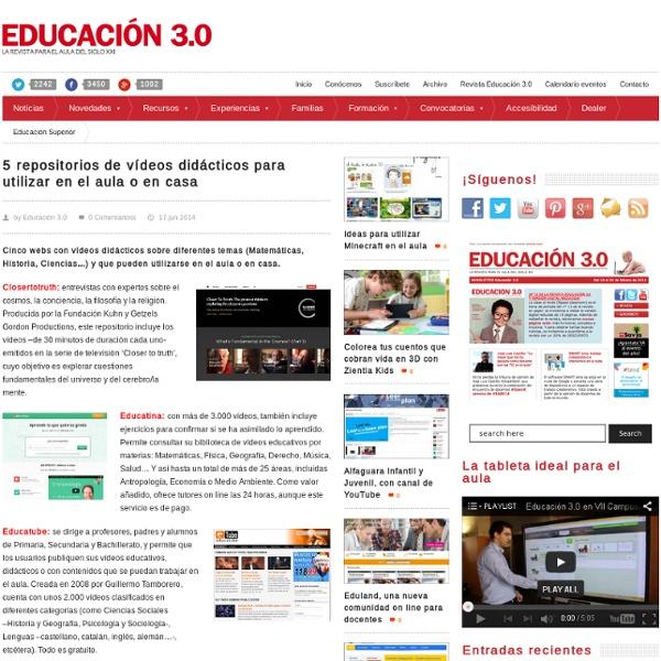 5 repositorios de vídeos didácticos para utilizar en el aula o en casa