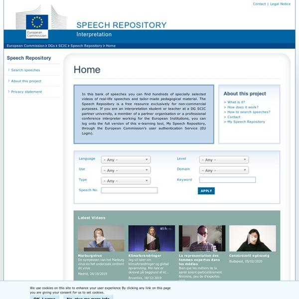 Speech Repository