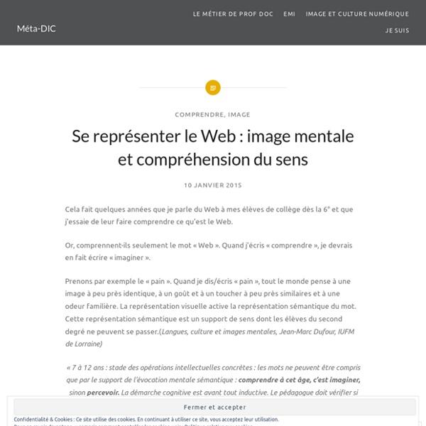 Se représenter le Web : image mentale et compréhension du sens