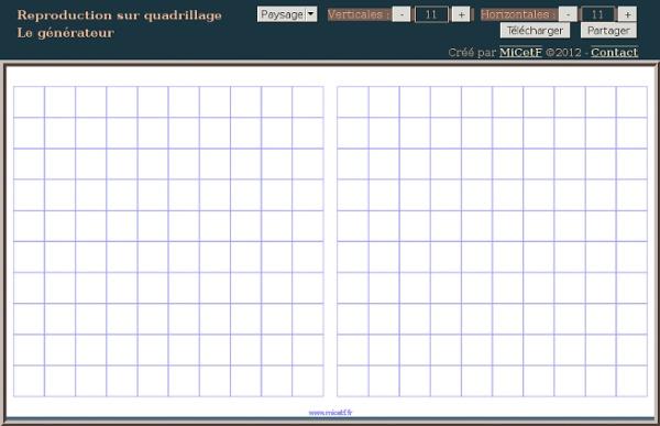 Reproduction sur quadrillage g n rateur pearltrees - Creer une grille de mots croises en ligne ...