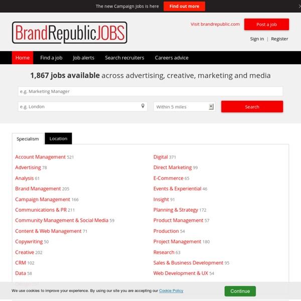 Marketing Jobs, Advertising Jobs & Media Jobs on Brand Republic Jobs