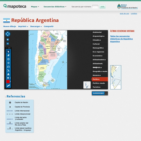 Mapas de República Argentina