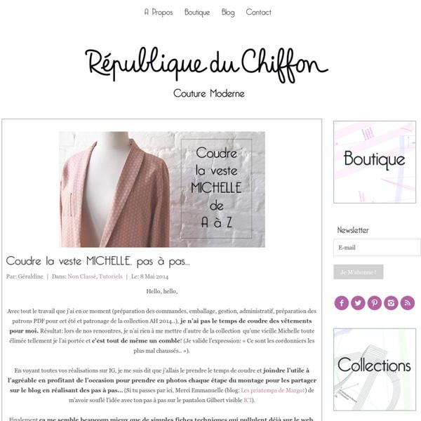 Coudre la veste MICHELLE, pas à pas... - République du ChiffonRépublique du Chiffon
