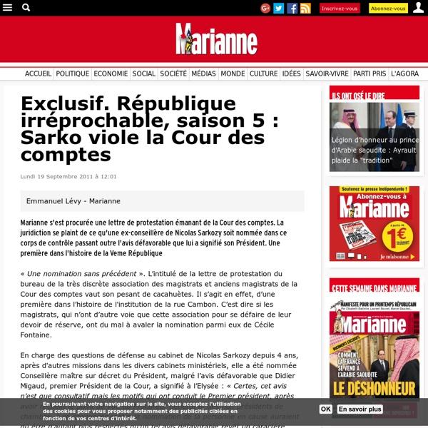 Exclusif. République irréprochable, saison 5 : Sarko viole la Cour des comptes