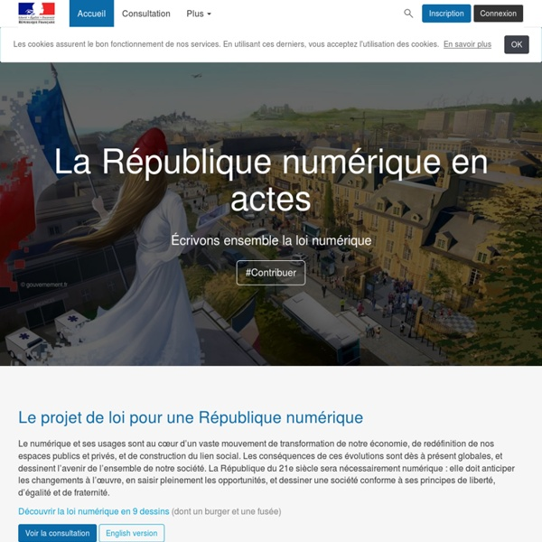 République Numérique - La République numérique en actes