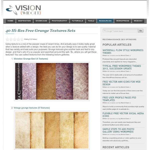 40 Hi-Res Free Grunge Textures Sets