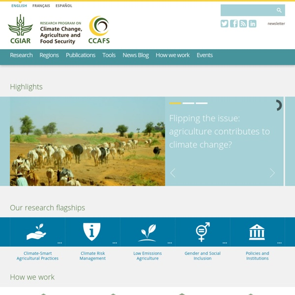 CCAFS: CGIAR research program on Climate Change, Agriculture and Food Security