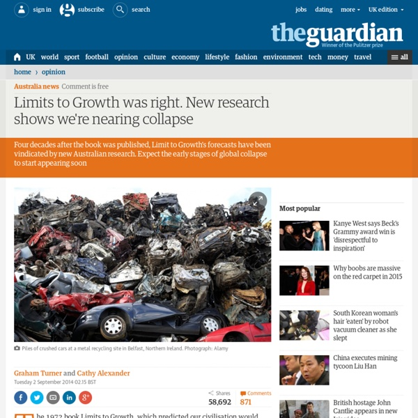 Limits to Growth was right. New research shows we're nearing collapse