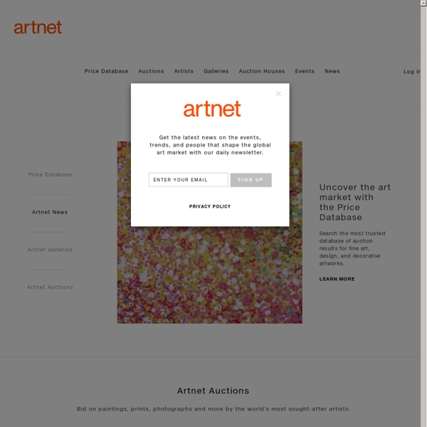 Fine Art, Decorative Art, and Design - The Art World Online: artnet