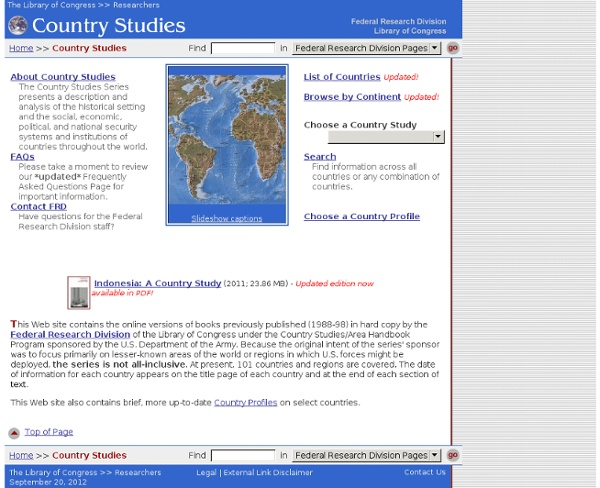 Country Studies - Federal Research Division, Library of Congress