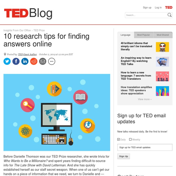 10 research tips for finding online answers