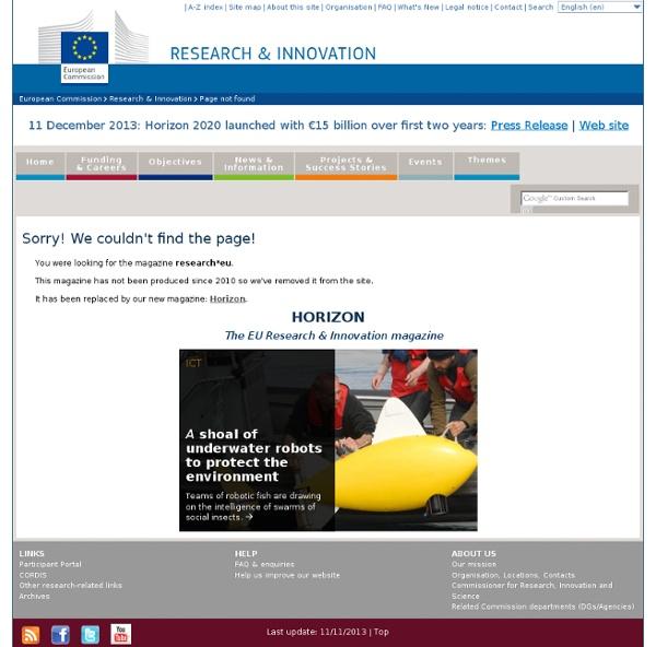 EUROPE SEPT 2007 Les virus émergents, dossier de la revue Research-eu Au sommaire: Les défis de la dengue