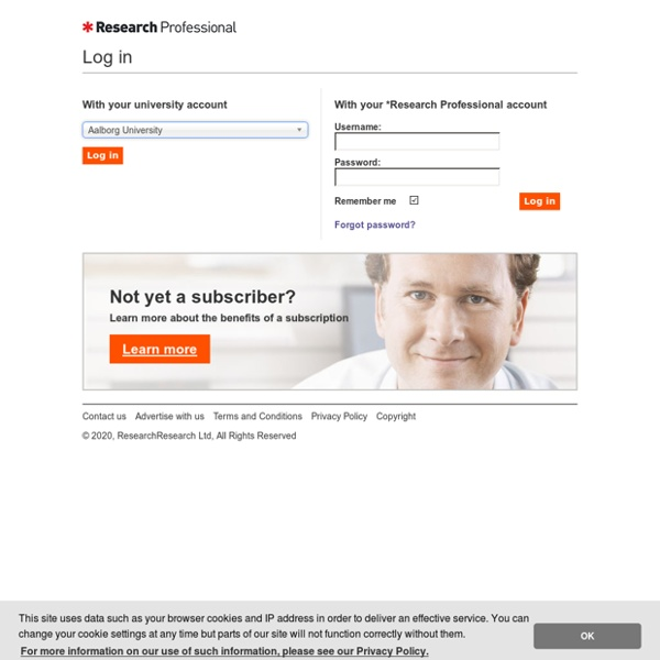 Research Professional Sign-in