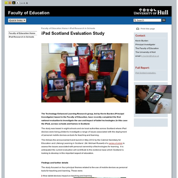 iPad Research in Schools
