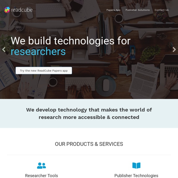 ReadCube for Researchers