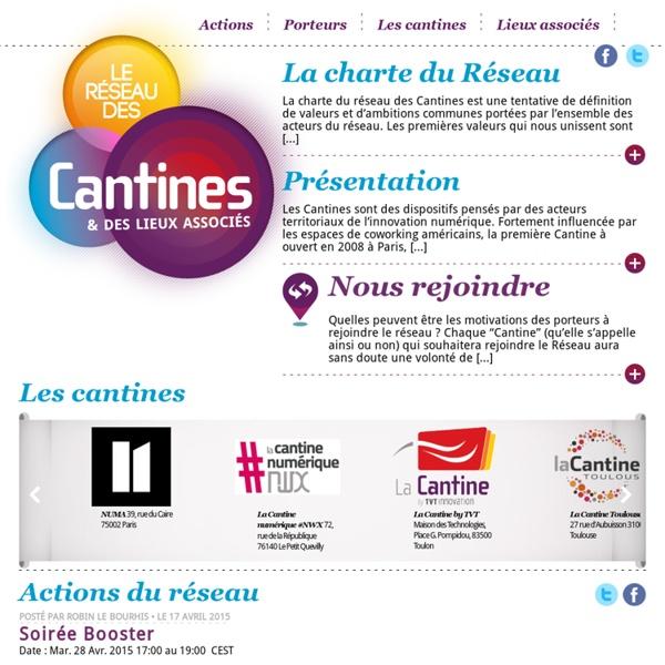 Le site du réseau des Cantines et des lieux associés
