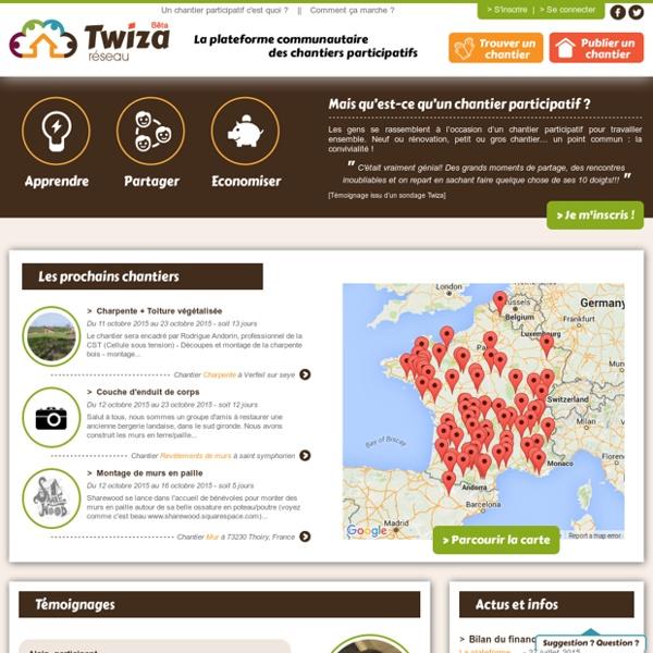 Twiza Réseau - Les chantiers participatifs