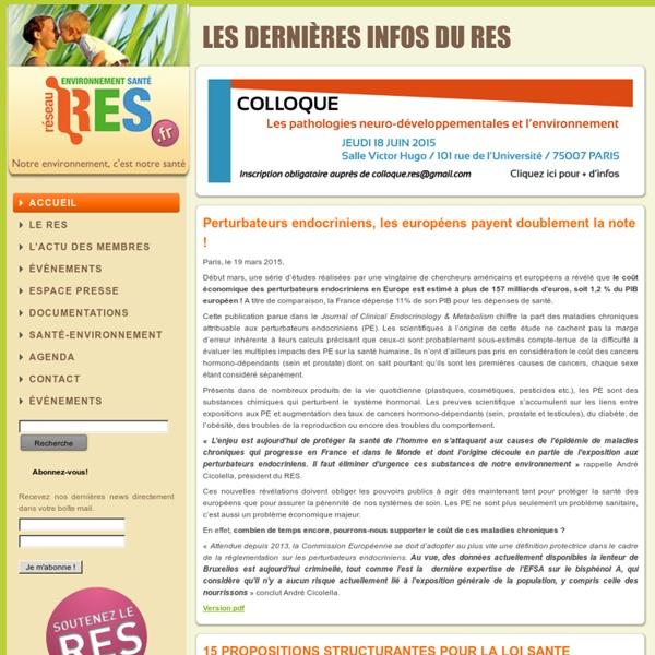 RES - Réseau Environnement Santé