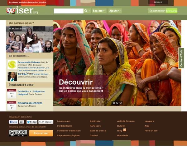 WiserEarth.org: Le Réseau Social pour le Développement Durable