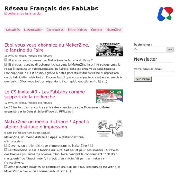 RFFLabs – Le site du réseau Français des Fablabs