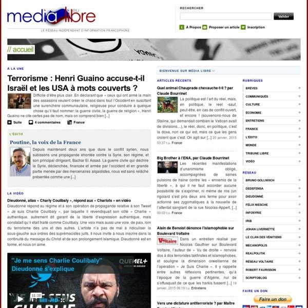Média libre // le réseau d'information indépendant