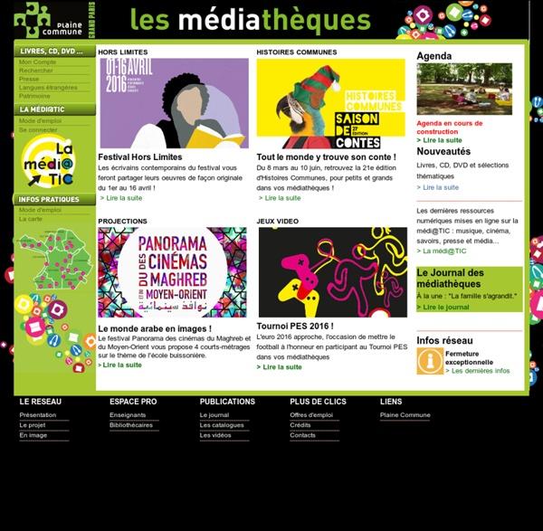 Réseau des médiathèques de Plaine Commune