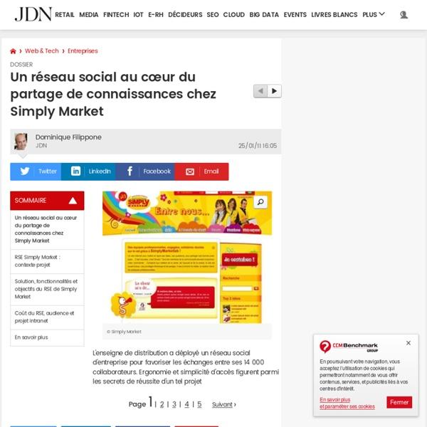 Un réseau social au cœur du partage de connaissances chez Simply Market